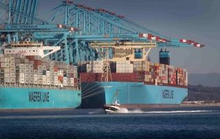 El 'Moscow Maersk', en el puerto de Algeciras.