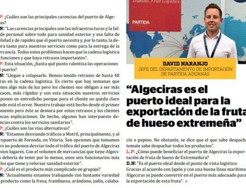 """Entrevista F&H: """"Algeciras es el puerto ideal para la exportación de la fruta de hueso extremeña"""""""