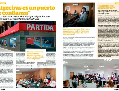 Entrevista con Revista Fruit Today: Algeciras es un puerto de confianza para las importaciones de cítricos